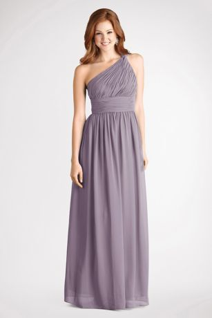 Soft & Flowy Donna Morgan Long Bridesmaid Dress
