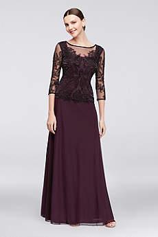 Long A-Line 3/4 Sleeves Formal Dresses Dress - Pisarro Nights