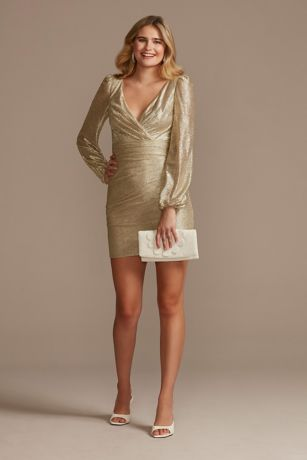 Short Sheath Long Sleeves Dress - DB Studio