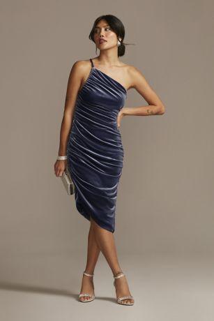 Short Sheath One Shoulder Dress - DB Studio