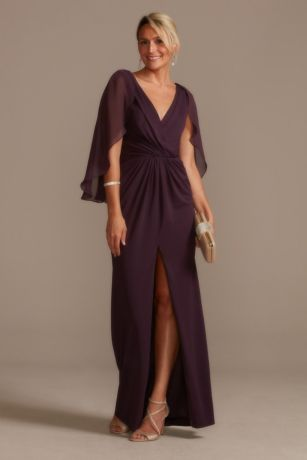 Long Sheath Capelet Dress - Oleg Cassini