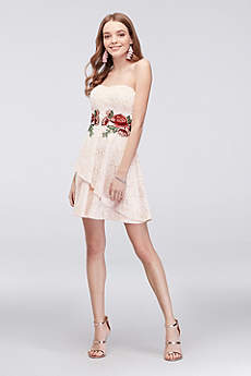 Short A-Line Strapless Cocktail and Party Dress - Speechless