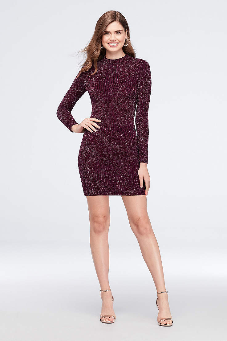Short Sheath Long Sleeves Dress - Speechless 75ea677408c2