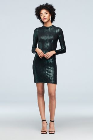 Short Sheath Long Sleeves Dress - Speechless