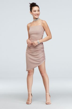 Short Sheath Spaghetti Strap Dress - Speechless