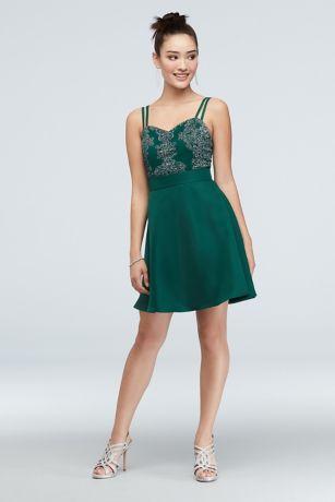 Short A-Line Spaghetti Strap Dress - Speechless