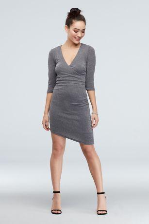 Short Sheath Elbow Sleeves Dress - Speechless