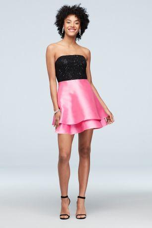 Short A-Line Strapless Dress - Speechless