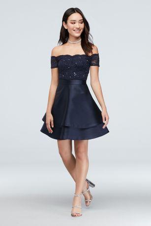 Short A-Line Off the Shoulder Dress - Speechless