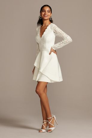 Short A-Line Long Sleeves Dress - Speechless