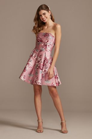 Short A-Line Strapless Dress - Speechless