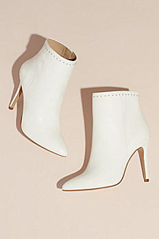 Mini Stud High-Heel Ankle Booties DAYTON