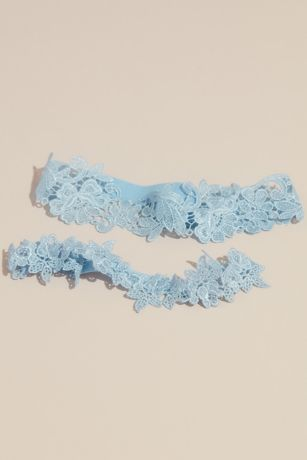 Something Blue Lace Roses Garter Set