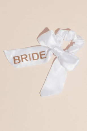 Bride Satin Bow Scrunchie