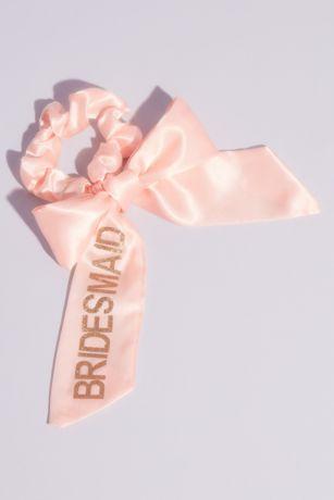 Bridesmaid Satin Bow Scrunchie