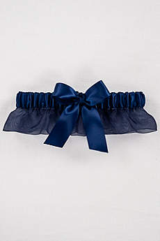 Ruffled Organza with Satin Bow Garter