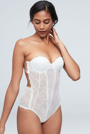 Fashion Forms Lace Backless Strapless Bodysuit