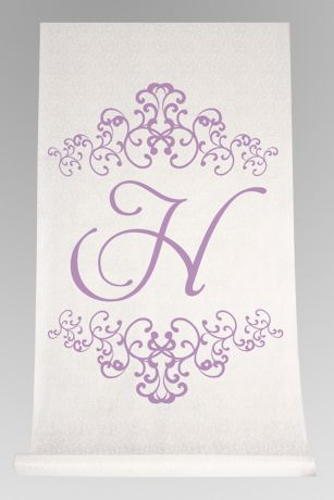 Personalized Watercolor Florish Aisle Runner