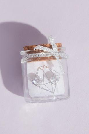 Cubic Zirconia Earrings in a Jar Bridesmaid Gift