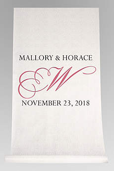 DB Exc Personalized Flourish Initial Aisle Runner