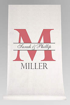 DB Exc Personalized Bold Initial Aisle Runner