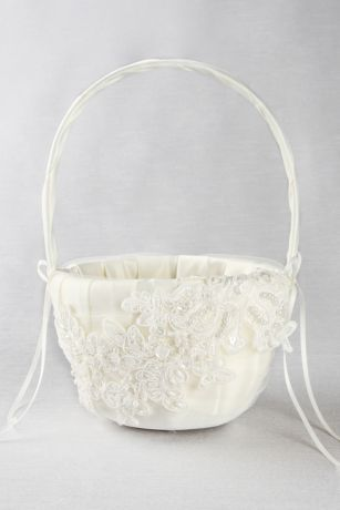 Sea of Petals Flower Girl Basket
