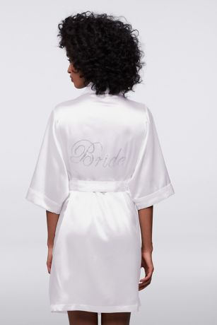 DB Exclusive Double Rhinestone Bride Satin Robe