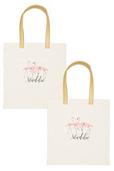 DB Exclusive Personalized Flamingo Canvas Tote