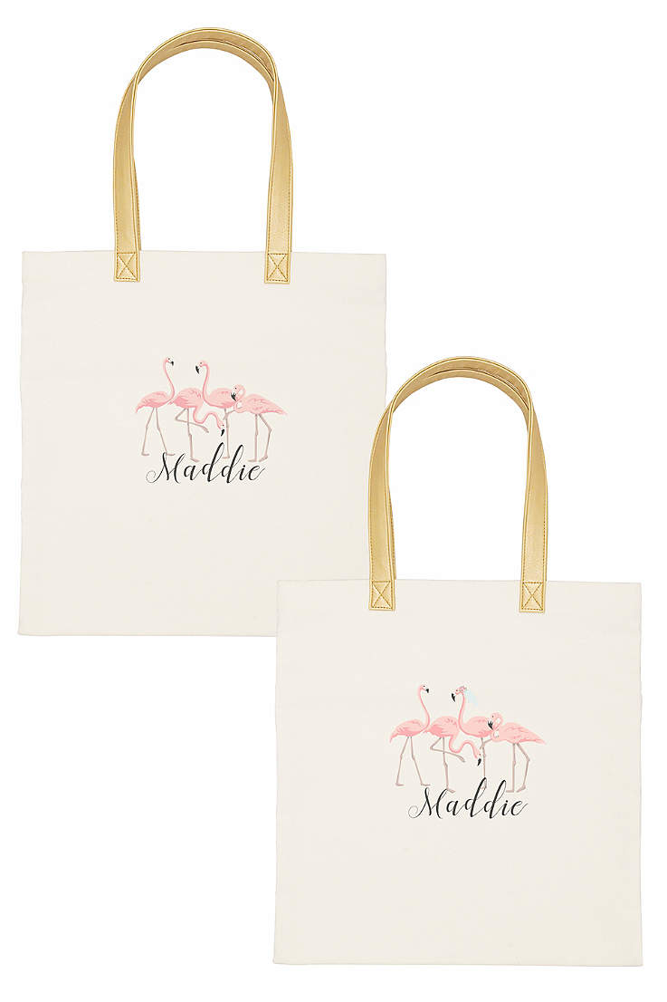 911ddb27c1 DB Exclusive Personalized Flamingo Canvas Tote