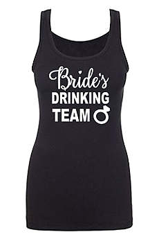 Bride's Drinking Team Fitted Tank Top