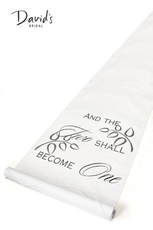 Two Shall Become One Aisle Runner