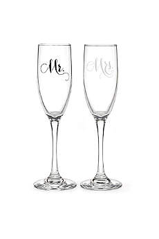 Mr and Mrs Elegant Toasting Flute Set