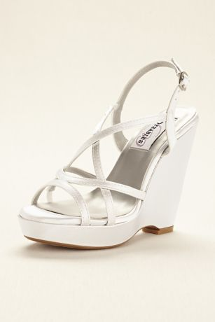 Dyeables White Sandals (Dyeable Platform Wedge Sandal)