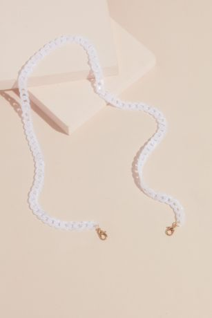 Acrylic Curb Link Statement Face Mask Chain