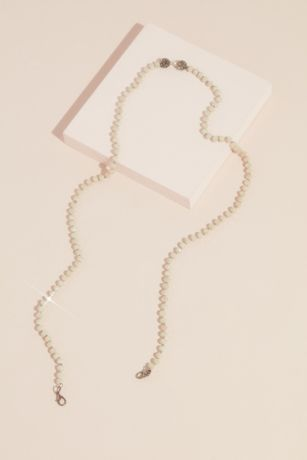 Faceted Bead Face Mask Chain with Accents