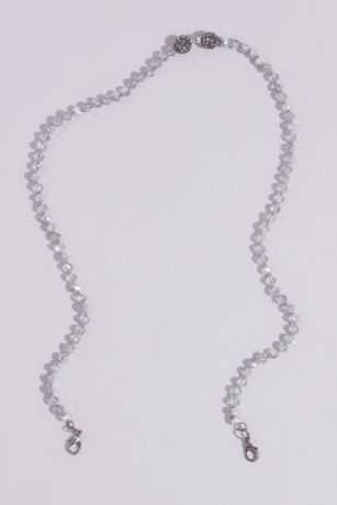 Faceted Crystal Bead Face Mask Chain with Accents