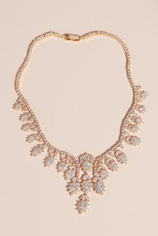 Brilliant Crystal Daisy Necklace