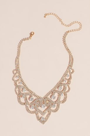 Looping Crystal Tiara Necklace