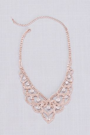 Looping Crystal Tiara Necklace