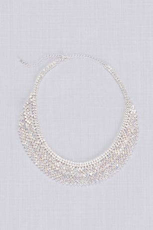 Layered Crystal Bib Necklace