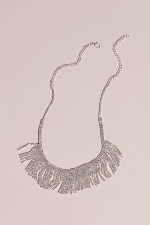 Crystal Fringe Collar Necklace