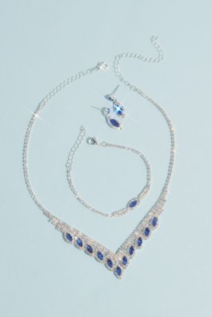 Marquise Stone Three-Piece Quince Jewelry Set