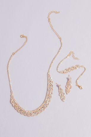 Iridescent Crystal Three-Piece Quince Jewelry Set