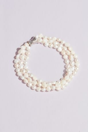 Three-Strand Freshwater Pearl Necklace