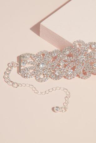 Pave Crystal Strand Interlocking Floral Choker
