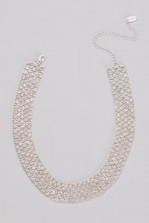 Pave Halo Cubic Zirconia Link Necklace
