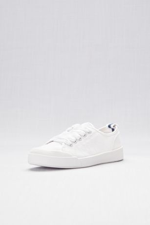 Madden Girl White Closed Toe Shoes (Classic Lace-Up Canvas Sneakers)