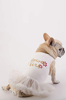 Flower Girl Glitter Script Dog Dress