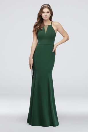 Long Mermaid/Trumpet Halter Dress - DB Studio