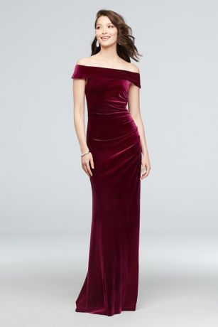 Long Mermaid/ Trumpet Off the Shoulder Dress - DB Studio
